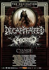"Decapitated/Aborted ""Decimation Tour Part Ii"" 2012 Uk Concert Poster-Metal Music"