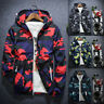 Men Camouflage Hoodie Coat Jacket Outwear Sweater Jumper Zipper Pullover Tops US