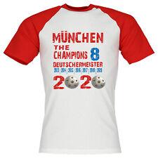 München Deutscher Meister 2020 T-Shirt Fussball Fanshirt Bundesliga 8 Funshirt