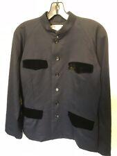 Commes des Garcons Navy jacket with Velvet Trim - Size M