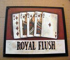 ROYAL FLUSH  Casino Bingo Bar chips Slots cards Blackjack Keno Gambling Poker