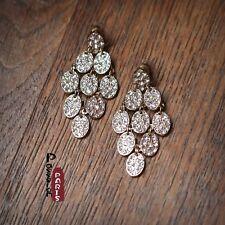 Boucles d`Oreilles Clous  Chandelier Ovale Cristal Vintage Vente En Gros G3