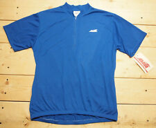 NOS NWT vintage Avia blue bike cycling jersey 1/2 zip 3-pocket, with tags, new