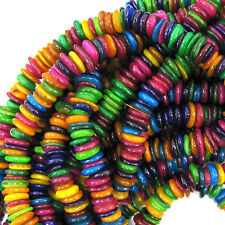 """6-10mm multicolor shell chip beads 32"""" strand chips S1"""
