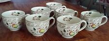 Johnson Brothers Fruit Samplers 7 Footed Tea/Coffee Cups w/design Inside and Out