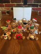 Homco Bear Figurines 12 Months with Original Box