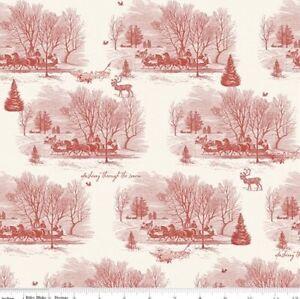 Fat Quarter Riley Blake Yuletide Dashing Through The Snow 100% Cotton Fabric