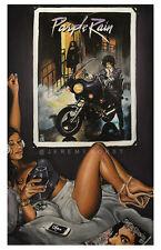 JEREMY WORST Purple Rain Prince Rip Canvas Print rock star studio man cave decor