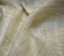 Textured Linen Look Sheer Cimarron Sand Heritage House Fabric
