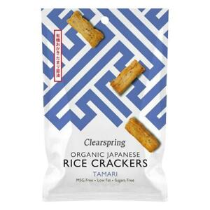 💚 Clearspring Organic Tamari Japanese Rice Crackers 50g