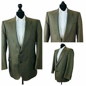 Mens Nina Ricci Jacket Blazer Chest 42 Brown Wool Single Breasted P177