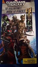 Guardian of the Galaxy Valentine 16 Cards with 16 Pencils New 2015