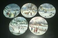 (5) Edwin M. Knowles NATURE'S CHILD by Mimi Jobe Collector's Plates