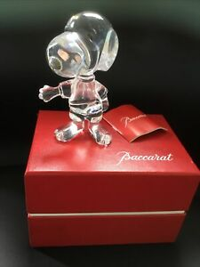 Baccarat Crystal Snoopy Figurine - Boxed