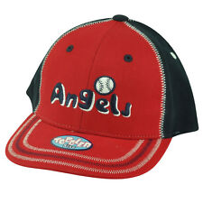 sports shoes 56752 e87a5 MLB Los Angeles Angels Toddler Boy Stitch Hat Cap Adjustable Two Tone Red