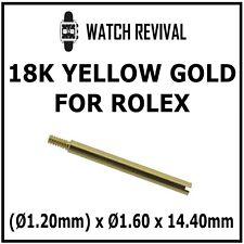 18K SOLID GOLD SWISS MADE BRACELET SCREW LINK FOR ROLEX Ø1.20mm x Ø1.60 x 14.40