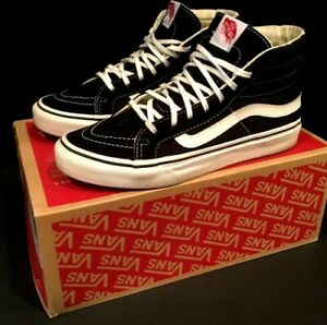 VANS SK8 Hi Slim Sneakers Black/True White SZ 5.5-Mens 7.0-Women Barely Used BOX