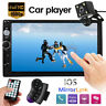 "7"" Car Stereo Bluetooth Radio MP5 MP3 Player Double DIN Touch Screen +Camera UK"