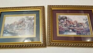 """CARL VALENTE SET OF 2 pictures 12""""x10"""" perfect condition"""