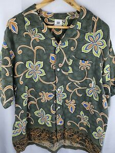 Billabong Mens Vintage Floral Button Up Shirt Size M
