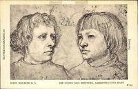 Künstlerkarte ~1910 Hans Holbein Zeichnung Die Söhne Ambrosius und Hans Postcard