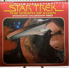 Star Trek The Wrath Of Khan Stardate Calendar 1983 Rare Vintage