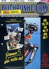 Blickpunkt Film Nr. 43 1988 13. Jahrg. Nummer 5 gibt nicht auf Kino Fernsehen