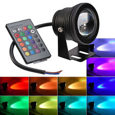 12V Submersible Waterproof RGB LED Spot Light Pool Pond Aquarium Lamp Underwater