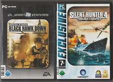 SILENT Hunter 4 Wolves of the Pacific sottomarino + Delta Force Black Hawk Down PC