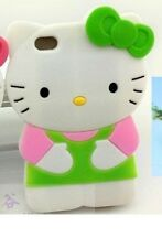 Hello kitty 3D Green Ipod Touch 4 4th Generation Soft Silicone Case Cover