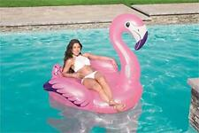 H2oGo! Luxury Flamingo Swimming Pool Inflatable Ride On Float Raft Boat Pink