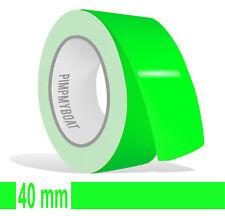 ZIERSTREIFEN - 40mm NEON GRÜN Fluor 10m  Auto neongrün 4 Decal Pin-Stripe 4cm