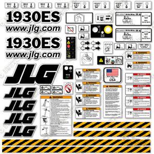 JLG 1930ES Decal Kit Scissor Lift - Warning Sticker Set with Logos - 3M Vinyl!