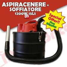 Bidone aspiracenere aspiratutto con soffiatore stufe a pellet camino 1200W 15 Lt