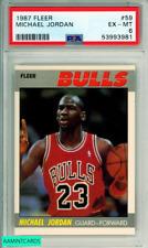 1987 FLEER MICHAEL JORDAN #59 HOF CHICAGO BULLS PSA 6 EX-MT