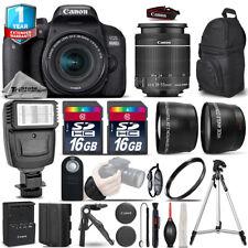 Canon Rebel 800D T7i DSLR Camera + 18-55mm IS STM + Flash +EXT BAT +1yr Warranty