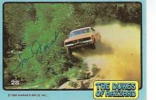 "TOM WOPAT SIGNED 1980 TOPPS ""DUKES OF HAZZARD"" #28 - LUKE DUKE"