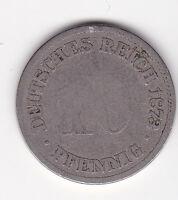 10 Pfennig 1873 D Deutsches Reich German Empire seltener