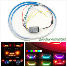 120cm RGB LED Car Rear Trunk Strip Lamp Tailgate Brake Drive Signal Knight Rider