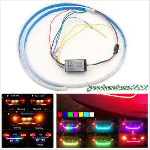 120cm RGB LED Car Rear Trunk Strip Lamp Tailgate Brake Drive Signal Knight Rider