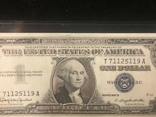 """1957 UNCIRCULATED US SILVER CERTIFICATES """"SILVER ENHANCED"""" IN PROTECTOR"""