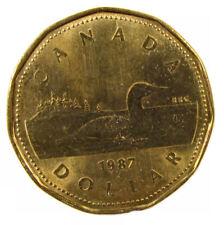 Canada 1987 (loonie) circulated $1 dollar coin