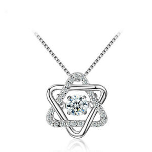 Fashion Unique Flipped Zircon David Star Pendant Necklace Shaking Famela Jewelry