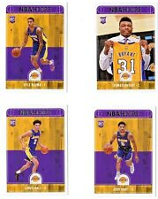 LONZO BALL,KUZMA,HART,BRYANT NBA L.A.LAKERS 2017-18 HOOPS ROOKIE 4 CARD LOT