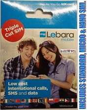 Lebara 4G Mobile Phone SIM Cards