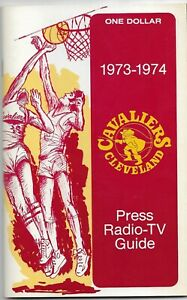 1973-74 CLEVELAND CAVALIERS NBA MEDIA GUIDE VINTAGE FREE SHIPPING