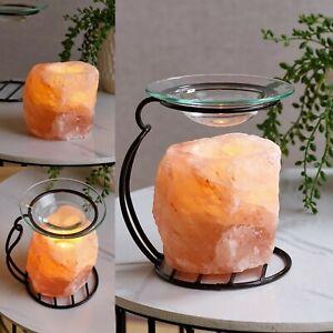 Himalayan Salt Oil Burner Lamp Yankee Candle Tart Wax Warmer Tea Light Holder