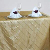 90x156 in. Pintuck Rectangle Tablecloth~Wedding~NEW