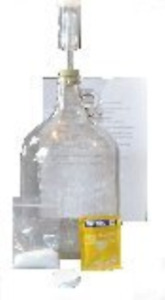 Mead Making Kit Active Dry Yeast Clear One Gallon Glass Jar Home Brewing