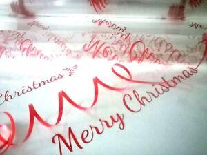 💜Christmas New Designs Cellophane Hamper Florist Wrap Folded + Free Ribbon